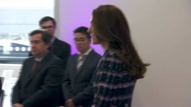 Duke and Duchess of Cambridge visit National Graphene Institute at University of Manchester ENGLAND Manchester University of Manchester EXT Car...