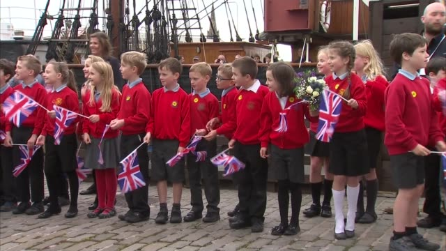 duke and duchess of cambridge visit original royal research ship discovery in dundee; scotland: dundee: ext prince william, duke of cambridge and... - dundee scotland stock videos & royalty-free footage