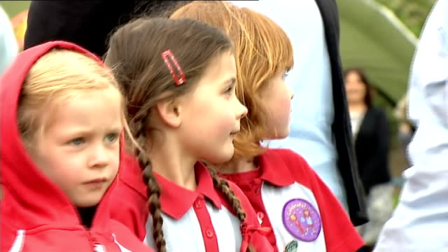duke and duchess of cambridge visit scotland scotland keith ext various of catherine duchess of cambridge talking to brownies and cub scouts - cub scouts stock videos and b-roll footage