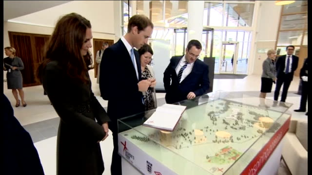 duke and duchess of cambridge visit st george's park national football centre arrival / photocall with england football team int william and... - national team stock videos & royalty-free footage