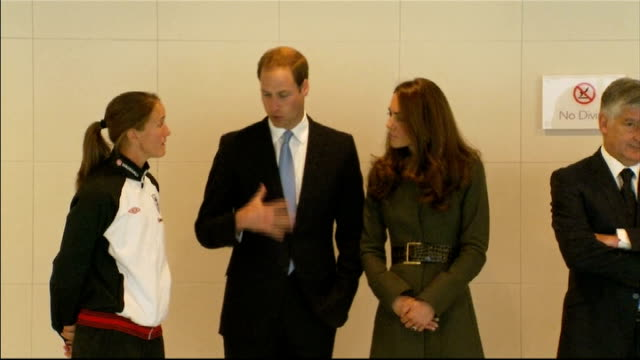 duke and duchess of cambridge visit st george's park national football centre hydrotherapy suite england staffordshire burtonontrent st george's park... - hydrotherapy stock videos & royalty-free footage