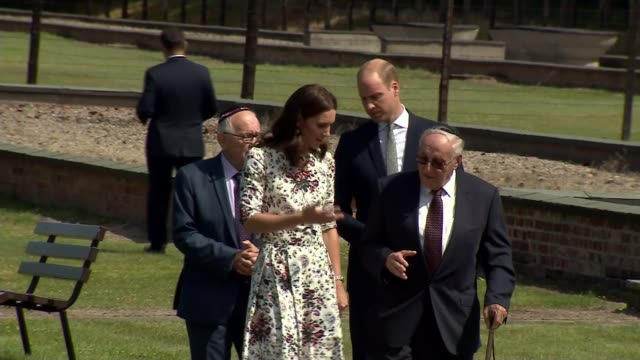 duke and duchess of cambridge visit stutthof concentration camp stutthof concentration camp ext prince william duke of cambridge and catherine... - konzentrationslager stock-videos und b-roll-filmmaterial