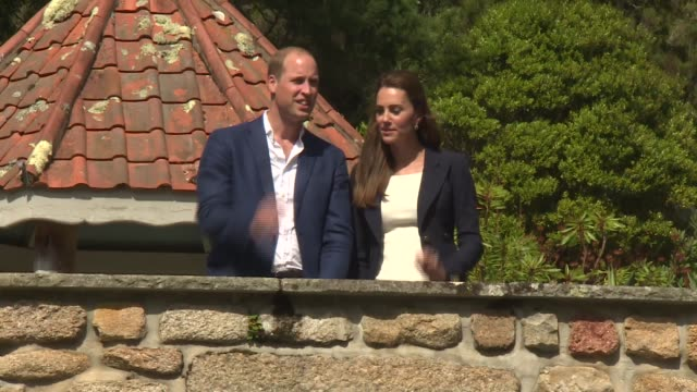 duke and duchess of cambridge visit the scilly isles; england: scilly isles: ext / fog / wet boats in harbour / people along with umbrellas sunny... - isles of scilly stock videos & royalty-free footage