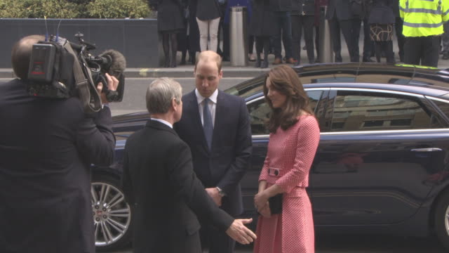 Duke and Duchess of Cambridge visit XLP in London arrivals at XLP Urban Training Centre on March 11 2016 in London England