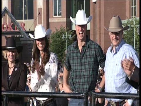 Duke and Duchess of Cambridge watching the rodeo at Calgary Stampede