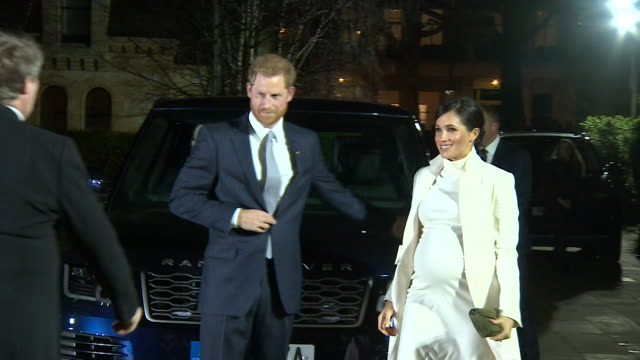 Duke and Duchess of Sussex arrive at Natural History Museum for gala performance of The Wider Earth