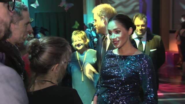 duke and duchess of sussex arrive for cirque du soleil show and take their seats england london royal albert hall photography*** prince harry duke of... - meghan duchess of sussex stock videos and b-roll footage