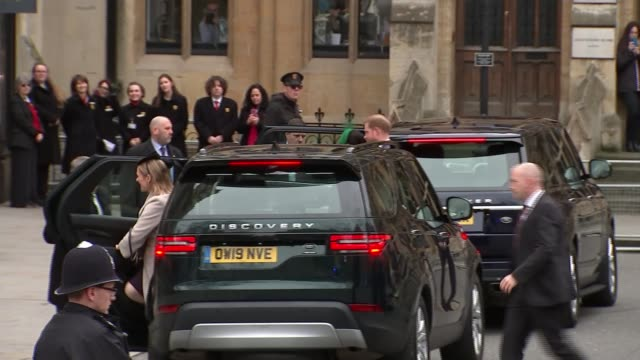 duke and duchess of sussex attend final public engagement as senior royals england london westminster westminster abbey prince harry duke of sussex... - prince harry stock videos & royalty-free footage