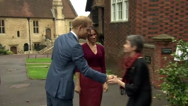 duke and duchess of sussex attend roundtable discussion on gender inequality uk windsor castle prince harry duke of sussex and meghan duchess of... - round table discussion stock videos & royalty-free footage