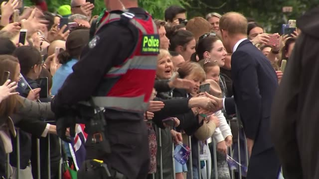 Duke and Duchess of Sussex Australia tour couple ride tram in Melbourne AUSTRALIA Victoria Melbourne Prince Harry Duke of Sussex and Meghan Duchess...