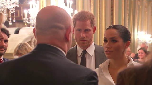 Duke and Duchess of Sussex chat with Ross Kemp at Endeavour Fund Awards at Draper's Hall in London Prince Harry praises Ross Kemp on his work with...