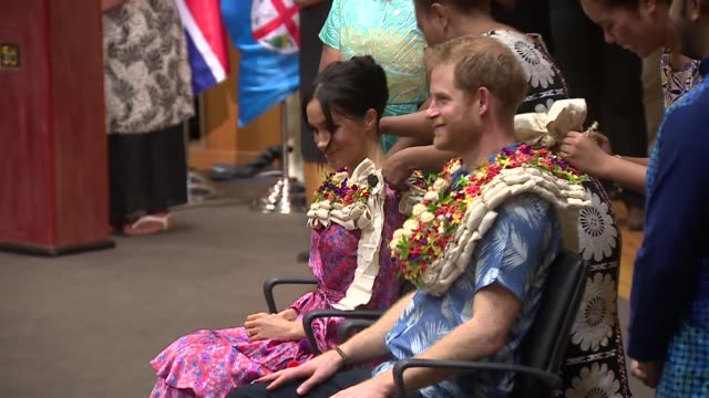 university of the south pacific visit fiji suva university of the south pacific int prince harry duke of sussex and meghan duchess of sussex into... - fiji stock videos & royalty-free footage