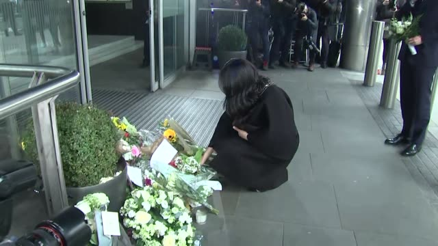 Duke and Duchess of Sussex lay floral tributes outside the New Zealand High Commission in London for the victims of the Christchurch Mosque terror...