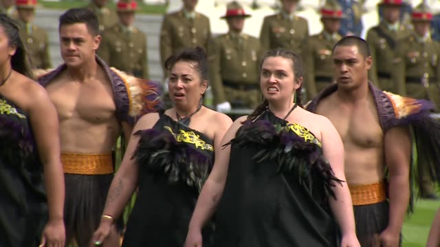 duke and duchess of sussex new zealand tour: government house welcome ceremony; new zealand: wellington: government house: prince harry, duke of... - māori people stock videos & royalty-free footage