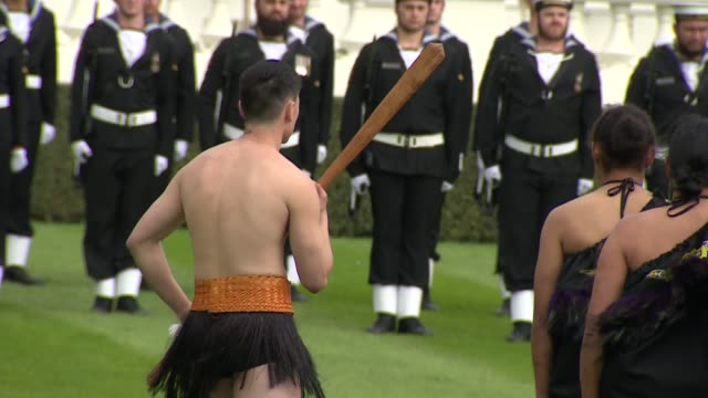 Duke and Duchess of Sussex New Zealand tour Government House welcome ceremony NEW ZEALAND Wellington Government House Prince Harry Duke of Sussex and...