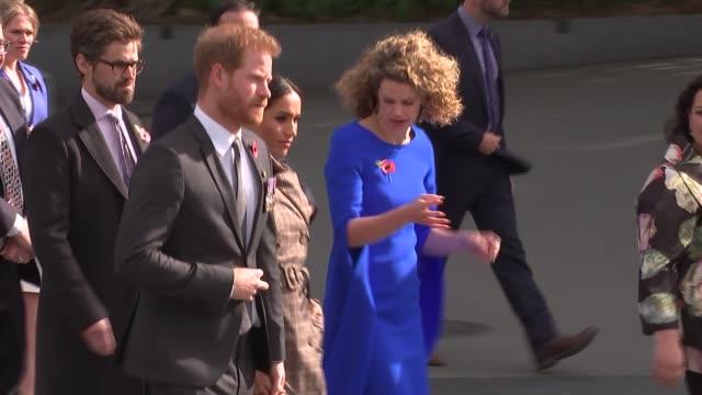 Duke and Duchess of Sussex New Zealand tour National War Memorial walkabout NEW ZEALAND Wellington National War Memorial Prince Harry Duke of Sussex...
