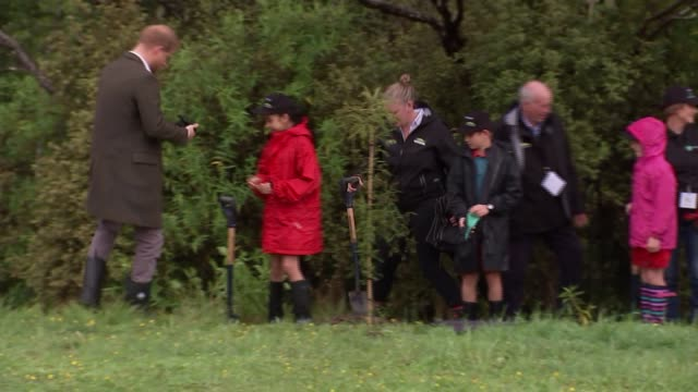 Duke and Duchess of Sussex New Zealand tour North Shore visit and 'welly wanging' NEW ZEALAND Auckland North Shore Prince Harry Duke of Sussex and...