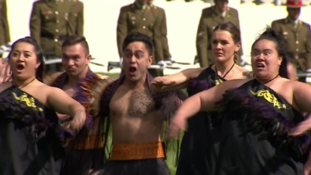 Duke and Duchess of Sussex receive traditional Maori greeting in Wellington NEW ZEALAND Wellington Government House EXT Prince Harry Duke of Sussex...