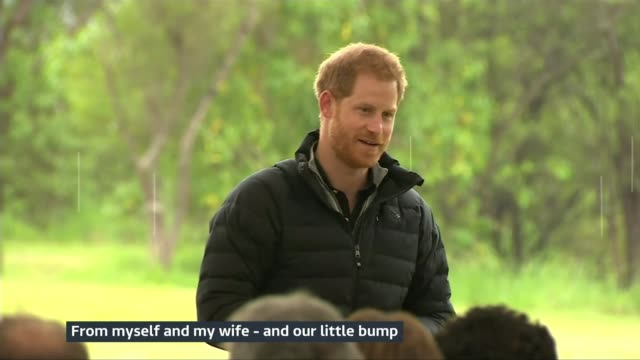 Duke and Duchess of Sussex speak about their 'little bump' NEW ZEALAND Wellington Abel Tasman National Park EXT Prince Harry Duke of Sussex speech SOT