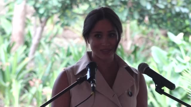 duke and duchess of sussex speeches at creative industries and business reception south africa johannesburg british high commissioner's residence... - africa stock videos & royalty-free footage