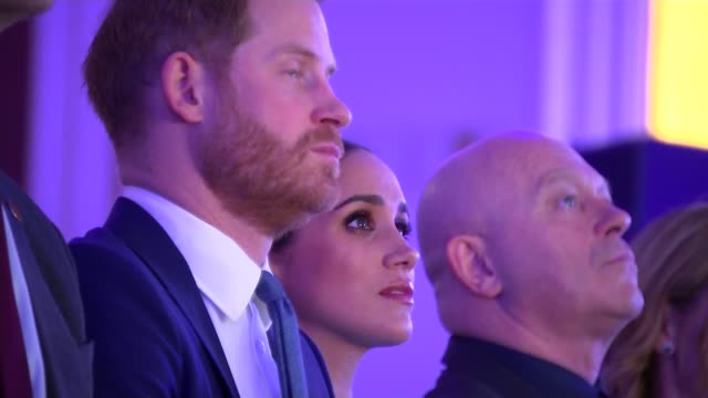 duke and duchess of sussex speeches at endeavour fund awards england london mansion house gvs prince harry duke of sussex meghan duchess of sussex... - craftsperson stock videos & royalty-free footage