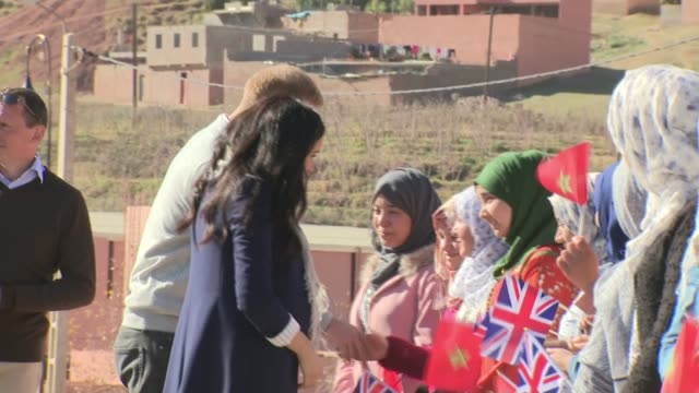 duke and duchess of sussex three day tour prince harry and meghan visit local secondary school in asni morocco atlas mountains asni education for all... - mountain stock videos & royalty-free footage