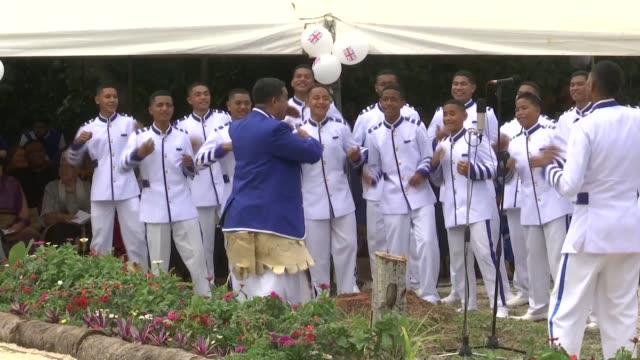 tupou college visit tonga tongatapu toloa tupou college choir singing sot prince harry duke of sussex and meghan duchess of sussex seated listening... - harry meghan tour stock videos and b-roll footage