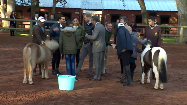 Duke and Duchess of Sussex visit Federation of Equestrian Sports MOROCCO Rabat Moroccan Federation of Equestrian Sports EXT GVs Prince Harry Duke of...