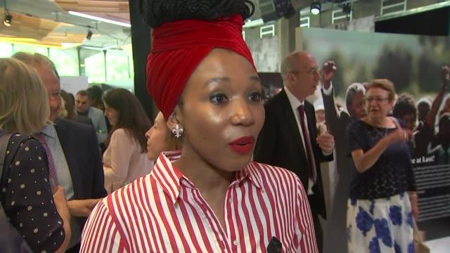 Duke and Duchess of Sussex visit 'Nelson Mandela The Centenary Exhibition 2018' at Southbank Centre ENGLAND London Southbank Centre INT Zamaswazi...