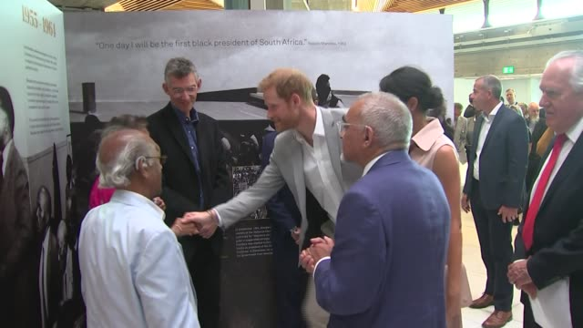 Duke and Duchess of Sussex visit 'Nelson Mandela The Centenary Exhibition 2018' at Southbank Centre ENGLAND London Southbank Centre EXT Prince Harry...