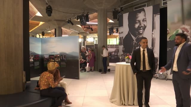Duke and Duchess of Sussex visit 'Nelson Mandela The Centenary Exhibition 2018' at Southbank Centre ENGLAND London Southbank Centre INT **Music heard...