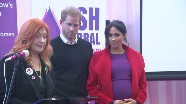 duke and duchess of sussex visit 'tomorrow's women wirral' support group england birkenhead ext prince harry duke of sussex and meghan duchess of... - meghan duchess of sussex stock videos and b-roll footage
