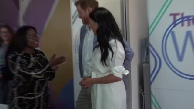 duke and duchess of sussex visit township in johannesburg south africa johannesburg tembisa township int prince harry duke of sussex and meghan... - journey stock videos & royalty-free footage