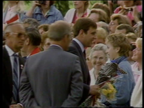 "duke and duchess of york in canada: special:; canada: edmonton: ext prince andrew, duke of york speech sof ""i know that -- very much indeed"" tbv... - hair band stock videos & royalty-free footage"