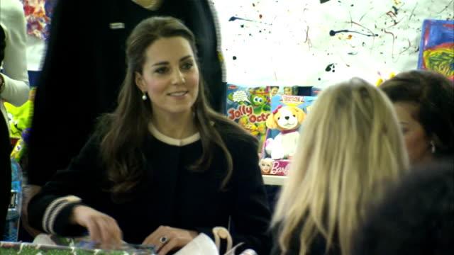Duke Duchess of Cambridge three day visit Kate visits child development centre *** WARNING Catherine Duchess of Cambridge into room with Chirlane...