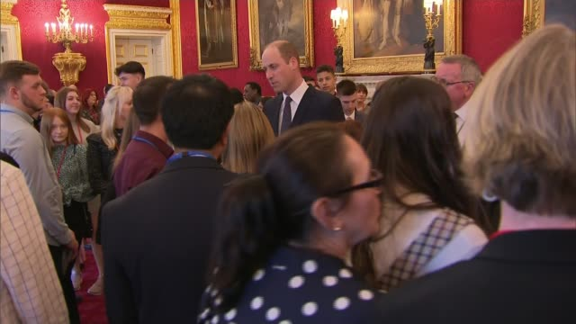 duke of cambridge hosts reception for charity which cares for orphans of metropolitan police officers; england: london: st james's palace: int gv... - orphan stock videos & royalty-free footage