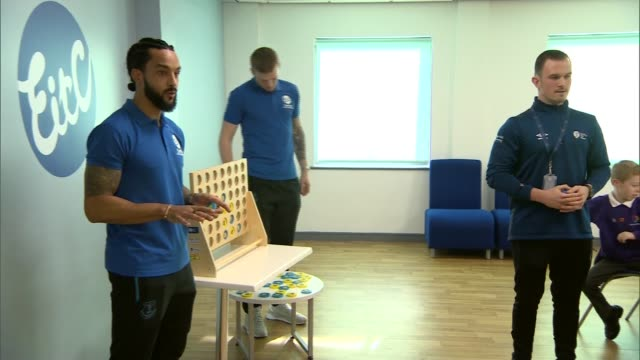 duke of cambridge visits everton football club to talk about mental health england liverpool everton football club int prince william duke of... - sportsperson stock videos & royalty-free footage
