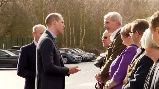 duke of cambridge visits tarmac's new national skills and safety park; uk, nottinghamshire: prince william, duke of cambridge, arrival for visit to... - arts culture and entertainment stock videos & royalty-free footage