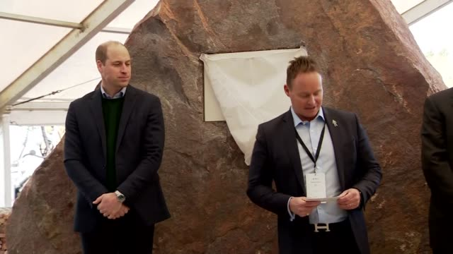 duke of cambridge visits tarmac's new national skills and safety park; uk, nottinghamshire: prince william, duke of cambridge, unveils plaque to... - opening event stock videos & royalty-free footage