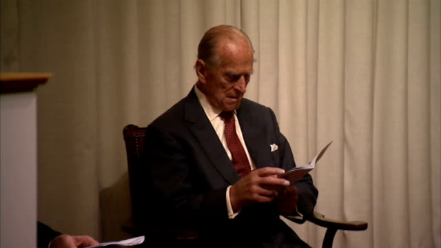 duke of edinburgh attends royal society of edinburgh medal ceremony scotland edinburgh royal society edinburgh ext prince philip duke of edinburgh... - prince philip stock videos & royalty-free footage