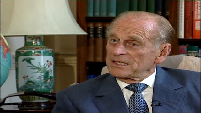 prince philip interview england london buckingham palace int prince philip duke of edinburgh interview sot it's still worthwhile for them to discover... - prince philip stock videos & royalty-free footage