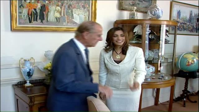 duke of edinburgh award 50th birthday: prince philip interview; england: london: buckingham palace: int prince philip, duke of edinburgh along as... - handshake stock videos & royalty-free footage