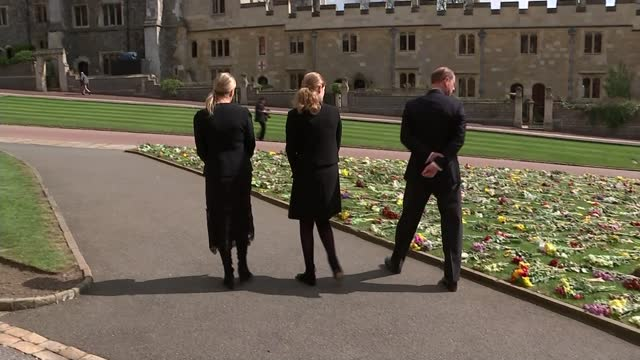 duke of edinburgh death: funeral preparations continue; england: berkshire: windsor: windsor castle: ext various of prince edward, earl of wessex,... - carefree stock videos & royalty-free footage