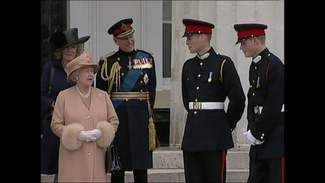 duke of edinburgh death: funeral preparations continue; r12040610 / surrey: camberley: sandhurst royal military academy: ext **orchard interview... - orchard stock videos & royalty-free footage