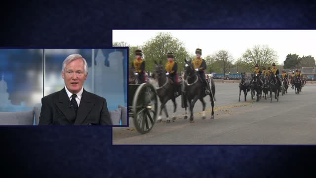 duke of edinburgh death: itv news special: 'a royal salute': pab 11.30 - 12.00; england: london: gir: int studio mary nightingale and major general... - mary nightingale stock videos & royalty-free footage