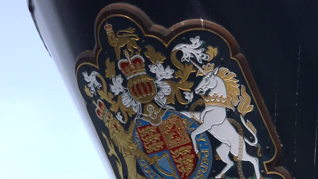 duke of edinburgh death: itv news special: 'a royal salute': pab 13.00 - 13.30; england: london: gir: int studio mary nightingale sot gir: /... - ship's bow stock videos & royalty-free footage