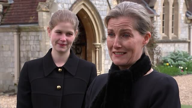 duke of edinburgh death: prince andrew describes death as leaving 'huge void' in queen's life; windsor, berkshire, uk; various shots of prince... - she's funny that way点の映像素材/bロール