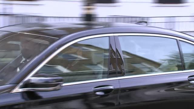 duke of edinburgh illness: prince philip leaves hospital after 28-day stay; england: london: marylebone: king edward vii's hospital : ext partition... - leaving stock videos & royalty-free footage