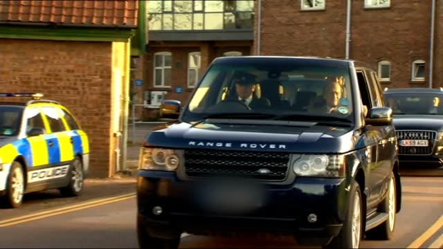 duke of edinburgh leaves hospital r27121103 papworth hospital prince philip waving from car as leaving hospital followed treatment to unblock a... - coronary artery stock videos and b-roll footage