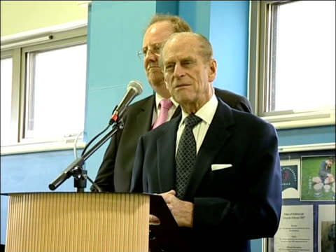 duke of edinburgh opens and tours crew club youth centre prince philip meeting police officers and community support officers visiting the community... - launch event stock videos & royalty-free footage